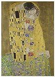 Panorama Póster Gustav Klimt El Beso 70x100 cm - Impreso en Papel 250gr - Póster Pared - Láminas para Enmarcar - Cuadros Decoración Salón - Pósters Decorativos - Cuadros Modernos