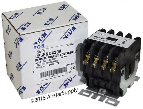 Contactor, 30 A, Panel, 460 V, 4PST, 4 Pole, 15 hp
