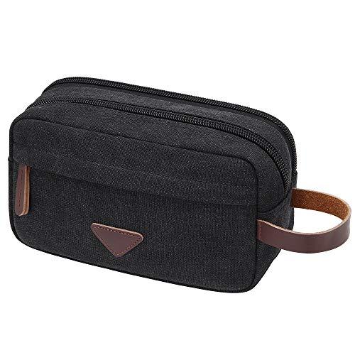 Men's Canvas Travel Toiletry Bag Dopp Kit for Men Shaving Bag Travel Kit Organizer for Toiletries