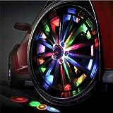 Autoreifen-Radlichter Solar, Autoreifen-Luftventilkappe Lichtbewegungssensoren Bunter LED-Reifen, modifiziertes Licht Reifenblinklicht mit Fernbedienung