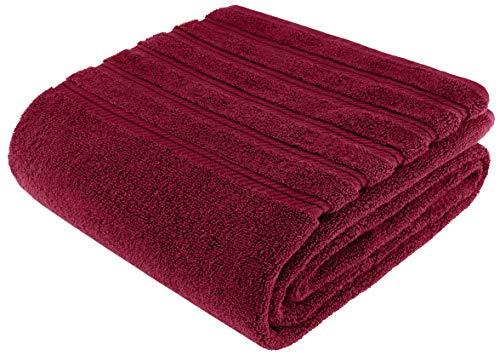 American Soft Linen 100% Ringspun Genuine Cotton Large, Turkish Jumbo Bath Towel 35x70 Premium & Luxury Towels for Bathroom, Maximum Softness & Absorbent Bath Sheet [Worth $34.95] - Burgundy