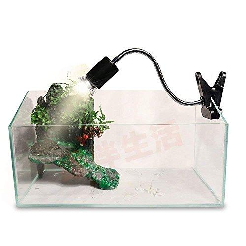 Abrazadera flexible para lámpara de reptiles. Soporte para lámpara de calor y iluminación de terrario, lámpara UVA UVB, lámpara de cerámica para reptiles, lámpara de calor, soporte para foco de calentamiento, abrazadera ajustable (negro)
