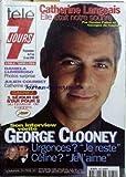 TELE 7 JOURS [No 1980] du 09/05/1998 - CATHERINE LANGEAIS. DANIELA LUMBROSO. JULIEN COURBET. GOERGES CLOONEY.