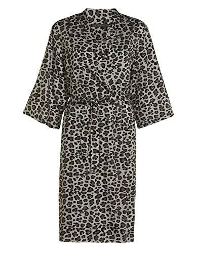 ESSENZA Kimono Sarai Bory Leoparden Muster Baumwollsatin Sand, M