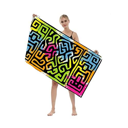 YSPS Manta de Toalla de Playa de Microfibra Larga Grande, Estera de Picnic de Secado rápido Absorbente de Agua Suave, tapicería de decoración de Pared