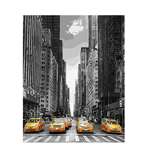 djjinhao - 1000 Piezas Puzzle - Coche Deportivo Callejero de Nueva York - Rompecabezas para niños Adultos Juego Creativo Rompecabezas Navidad decoración del hogar Regalo