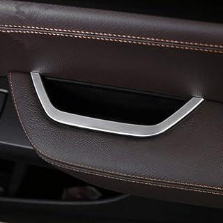 Accessorio per veicolo auto interno 2 pezzi//set Freno a mano per auto elettronico Coperchio pulsante H Trim Lega di alluminio Argento per 5 F10 GT f07 6 7 serie X3 F15 X4 F16 X5 F25 X6 F26