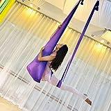 ZCXBHD 5 Metros Yoga DIY Sedas Aéreas Equipo Hamaca De Yoga Aérea Seguro De Lujo Equipo Anti Gravedad Columpio De Yoga (Color : F)