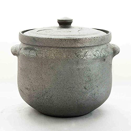 Casserole Pot À Soupe / 6L Open Fire Haute Température Noir Casserole Santé Pot À Soupe Maison Grande Capacité