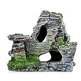 Sasiki Acuario Rockery Ocultar Roca Cueva Decoración Subacuática Paisaje Vista Montaña Ornamento Pecera Rockery Gato Muebles