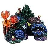 Varadyle DecoracióN de Acuario de Arrecife de Coral PequeeO de Resina Artificial, Cueva de Roca de Pecera de Paisaje Adecuada para Dormir, Descansar, Esconderse