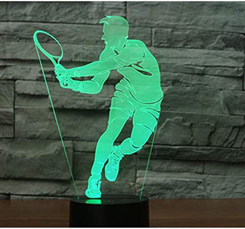 Sakj-d 3D Led Nachtlicht Spieltennis Kommen Mit 7 Farben Licht Für Heimtextilien Lampe Erstaunliche Visualisierung Optische Tuschung