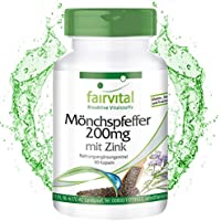 Sauzgatillo 200mg con zinc - Vitex Agnus Castus - Dosis elevada - VEGANO - Menopausia - 90 Cápsulas