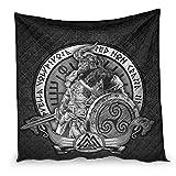 Cartel vikingo Odin guerrero con espada de guerrero, diseño escandinavo, regalo para sofá cama, color blanco, 180 x 200 cm