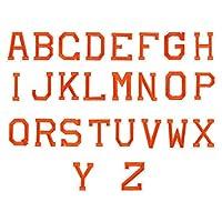 HEALLILY 2セット/ 52ピースアイロンパッチアルファベット文字パッチ刺繍パッチパッチアップリケ服ジャケットTシャツジーンズバックパック(オレンジ)