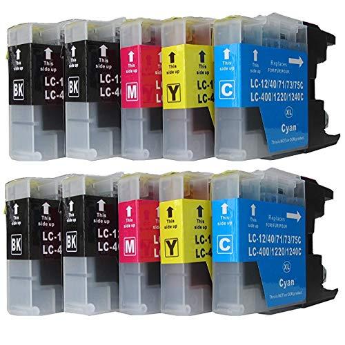 ESMOnline 10 komp. Druckerpatronen (4 Farben) für Brother MFC J430W J625DW J725DW J825DW J925DW J5910DW J6510DW J6710DW J6910DW (LC1220/LC1240/LC1280)