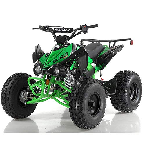 X-PRO 125cc ATV Quad Youth 4 Wheeler Adults ATVs Quads Middle Size 4 Wheelers (Green)