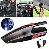 A/M Limpiadores de automóviles CCI Coche/Portable Vacuum Cleaner Potente 120W inalámbrico de Mano del hogar con luz LED de Enchufe de la UE (Negro) Limpieza del Coche (Color : Black)