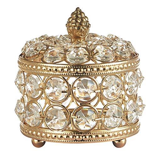 Joyero de viaje Comestic Jewelry Cofre Caja de almacenamiento de cristal Anillo Lady Case Organizador de joyas portátil Collares