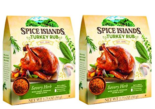 Spice Islands Turkey Rub Savory Herb 1.75 oz. (2 Pack)