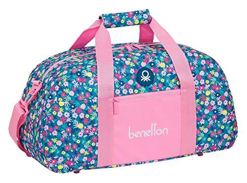 Safta Bolsa de Deporte de Benetton Blooming, 500x260x200mm, rosa/multicolor, M (M611)