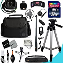 Xtech NIKON COOLPIX Accessories KIT for Nikon Coolpix L840, L830, L820, L330, L320, L620, L610, P7800, P7700, P4, P3, AW130, AW120, AW110, AW100, L810, L32, L31 L30, L28, L26, L120, L110, L100, L310, L24, L22, L20, L19 S210, S205, S520, S510, S500, S200, S700, S600, S750, P340, 1 S2, 1 J4, 1 V3, P310, P510 Digital Cameras Includes: 32GB High Speed SD Memory Card + Pro Grade 60' inch Tripod + Well Padded Camera Case + 3 in 1 Monopod + MORE