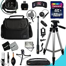 PRO 32GB Accessories KIT for Canon POWERSHOT G5X G5 X, G9X G9 X, G7X G7 X, G3X G3 X, G1X G1 X, G1 X Mark II, G1 X, G16, G15, SX710, SX700, SX610, SX600, SX410 D30, D20 Digital Cameras