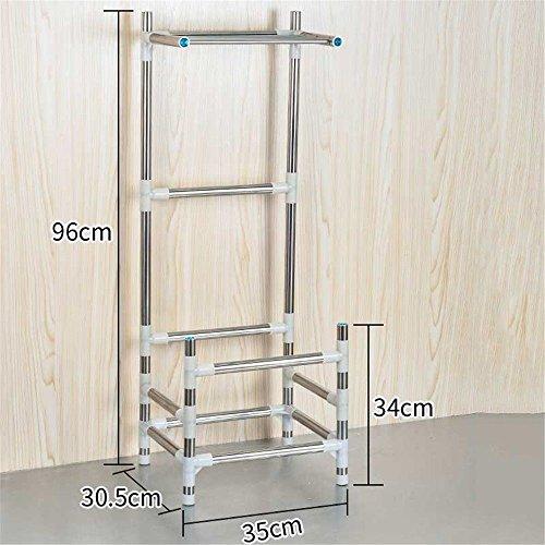 LHbox Tap Cuenca Floor-To Baño Rack de Montaje en Techo de Lavabo, Estante Integrados multifunción, Floor-To Techo con toallero