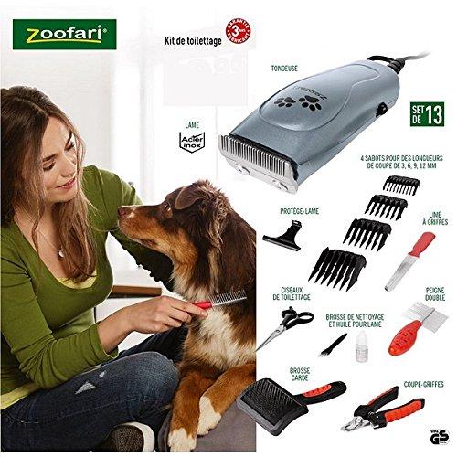 zoofari CORTAPELOS Y Kit Completo para Mascotas, Perros, Gatos con MALETIN Y Accesorios 13 Piezas