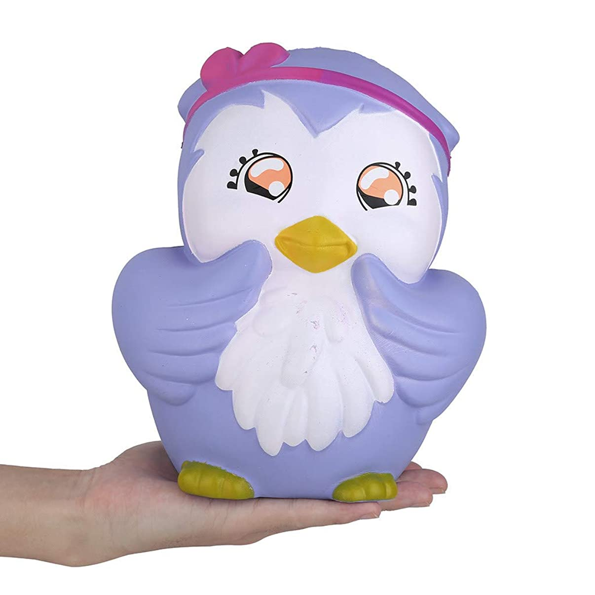 UNBRUVO Kawaii Cartoon Owl Slow Rising Cream Scented Stress Relief Toy