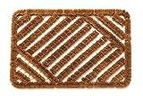 andiamo Fußmatte Kokos Drahtgitter Sauberlaufmatte für drinnen und draußen, Natur, 40 x 60 cm