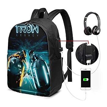 BobBThorpe Daft Punk Tron Legacy Laptop Backpack with USB Charging Port College School Backpack Student Bookbag Casual Daypack Backpack for Women Men Travel Backpack for Teacher