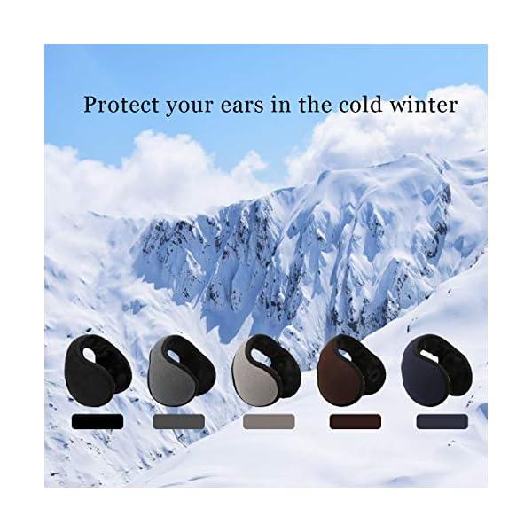 Ear Warmers For Men Women Foldable Fleece Unisex Winter Warm Earmuffs For Cold Winters,Biking,Adjustable,Protects Ears