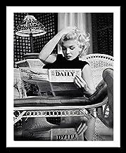 Buyartforless مؤطر مارلين مونرو قراءة الحركة صورة يوميا 1955 من قبل Ed Feingersh 20x16 صورة فنية مطبوعة ملصق