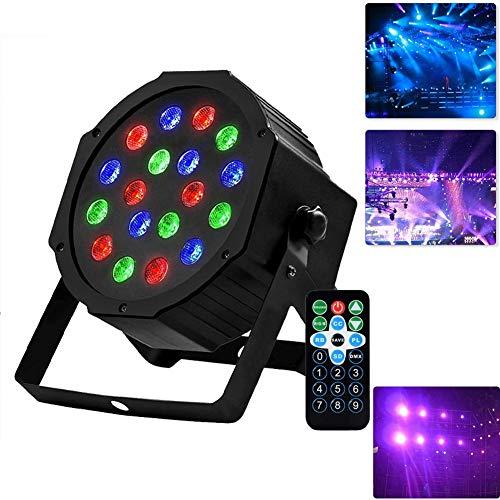 WHCCL LED Par Disco Lichter, 54 Perlen Sprachsteuerung Magic Ball Beam, DJ Stage Lights Spotlight mit IR-Fernbedienung für KTV Disco Parties