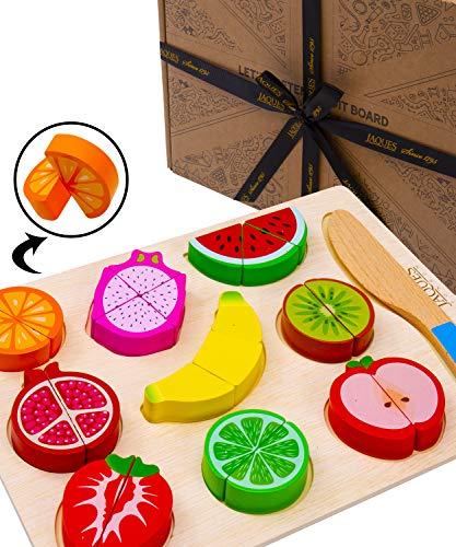 Jaques of London holzspielzeug küchenzubehör Lasst Uns so tun Schneide Obst Kinder Perfekt Kleinkind Spielzeug 1 Jahr Spielzeug ab 1 Jahr und Spielzeug ab 2 3 4 5 Jahre Seit 1795