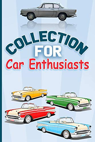 """Collection for Car Enthusiasts RED CAR: Lined Notebook , Soft Cover 6\"""" x 9\"""" ,110 pages ,Journal paper book"""