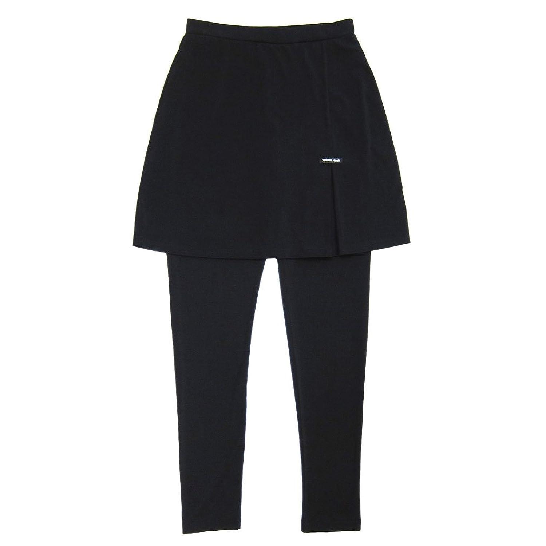 涼しい薄手レギンス のびのびストレッチ スカート付きパンツ スカート丈おしり隠す40cm (M)