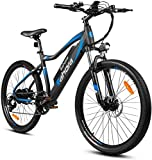 Eahora XC100 26 Inch 48V Mountain Electric Bikes for Adult 350W Urban Electric Bike Key-Secured Removable Battery, E-PAS Recharge System, Shimano 7-Speed Gear Shifts