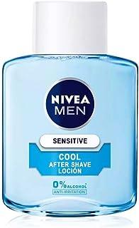 NIVEA MEN Sensitive Cool Loción After Shave (1 x 100 ml), con 0% alcohol para calmar la irritación, loción calmante para el cuidado de la piel sensible
