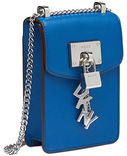DKNY Elissa Pebble Leather Charm Chain Strap Crossbody