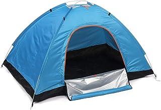 Campingtält enkel inställning dubbeldörr fällbart tält 2–3 personer vattentät helautomatisk för utomhuscamping vandring re...