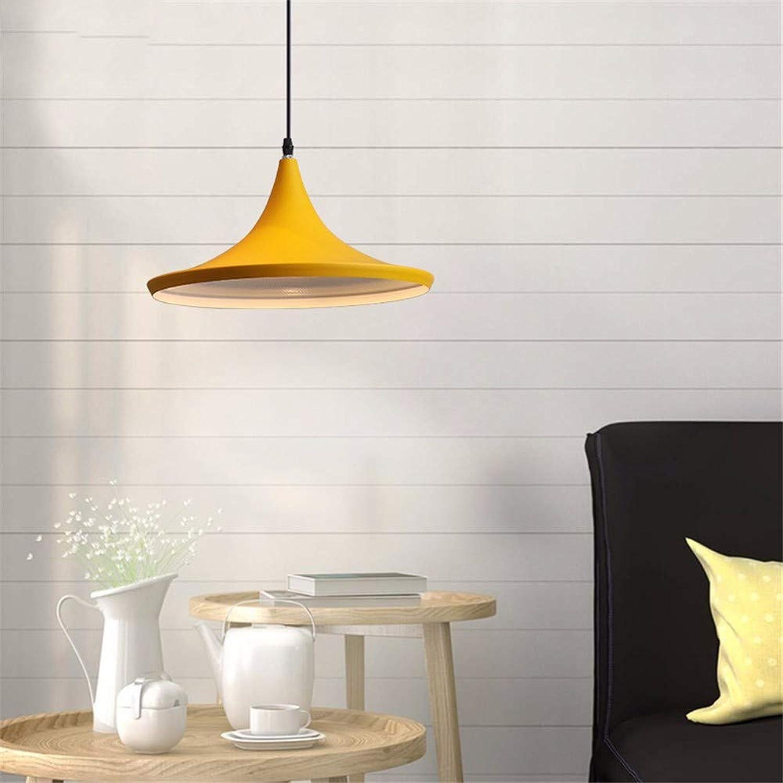 Yuyu19-Chandelier Kronleuchter Nordic Industrial Vintage Loft Deckenleuchte Küche Schlafzimmer Bar Wohnzimmer Esszimmer Eisenfarbe, gelb 36  20cm