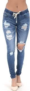 Women's Stretch Knee Cut Denim Skinny Jogger Size Small to 3X