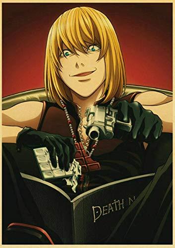 Lovmo Death Note Anime Pintura de Diamantes, Bordado de Diamantes, 5d Bricolaje, Cuadrado Completo, Mosaico de Diamantes, Pintura de Diamantes(Cuadrado 50x60cm)