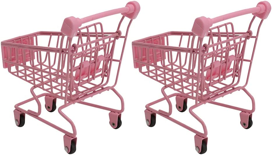 Yardwe 2pcs Year-end annual account Mini Complete Free Shipping Supermarket Handcart Shopping Shoppin Cart