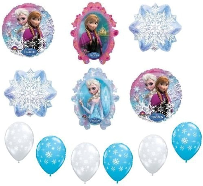 LoonBalloon FROZEN Anna Elsa Snowflake Birthday Party Decoration Mylar & Latex Balloons Set by LoonBalloon