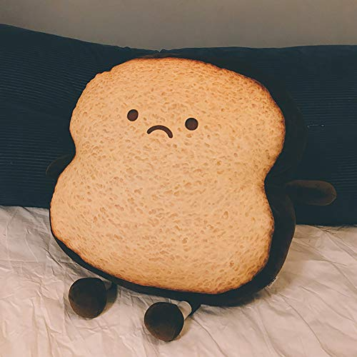 Dalang Creative Sliced Bread Plush Pillow, Cute Soft Toast plushie, Cute Cushion Bread Slice Pillow for Children Adult Gift Home Bedroom Decoration (Coffee)