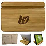 Wooden Tablet Stand - Bamboo Holder iPhone, iPad Air, Samsung Tablet PCs,...