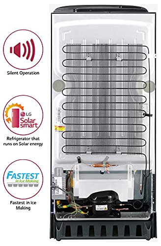 LG 190 L 5 Star Inverter Direct-Cool Single Door Refrigerator (GL-D201APZZ, Shiny Steel, Base stand with drawer) 6
